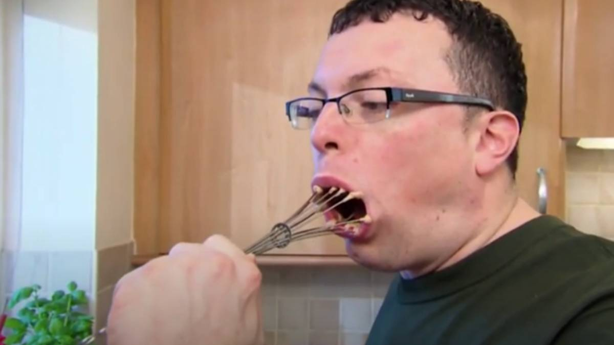 Come Dine With Me Contestant Explains Why He Put Whisk In Mouth