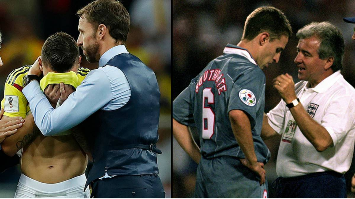Gareth Southgate Proves He's a LAD By Consoling Colombian Player - LADbible