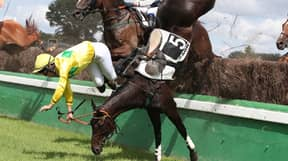 Jockey's Jaw Broken After A Rival Horse's Hoof Hits Him In The Face