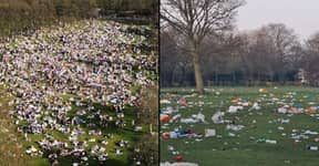 Huge ​Clean Up Underway After Thousands Leave Litter All Over Park On Hottest March Day In 50 Years