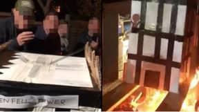 Five Men Arrested Over Bonfire Night Grenfell Tower Effigy Burning