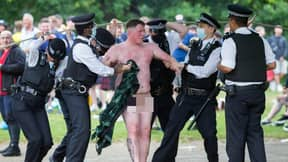 Naked Scotland Fan Led Away By Police In Hyde Park As Supporters Cause Wild Scenes In London