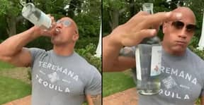 The Rock Downs Half Bottle Of Tequila Without Even Flinching