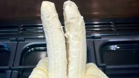 Student Shocked After Peeling Fruit To Reveal Rare Double-Barrelled Banana