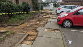 Village Awakens To Discover Someone Has Stolen Almost An Entire Pavement