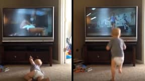 Baby Watches Rocky And Thinks He's The Next Sylvester Stallone