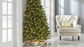 You Can Buy Half Christmas Trees If You Don't Want To Decorate A Full One