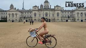Woman Cycles Naked Around London To Raise Money For Suicide Prevention