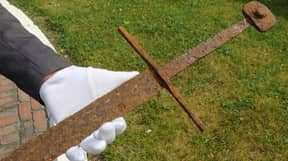 Man Finds Almost Perfectly Preserved 600 Year Old Sword By Accident