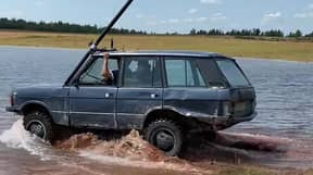 'Rural James Bond' Completely Submerges Old Range Rover While Driving Through Pond