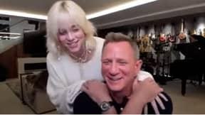 Daniel Craig Has Sweet Reaction When Billie Eilish 'Sneaks Up' On Him