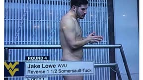 Twitter Left Baffled After Diver Appears To Be Naked On TV