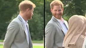 Prince Harry Is Caught On Camera Smuggling Samosas At Meghan's Cookbook Event