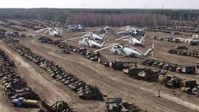 There's A Cemetery Of Radioactive Vehicles Used In Clean Up Of Chernobyl Nuclear Disaster