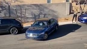 Woman Helps Motorist Parallel Park - Then Drives Off In Car Behind