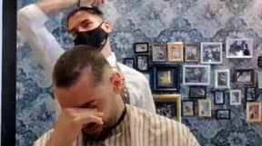 Barber Shaves Off Own Hair In Solidarity With Cancer Patient
