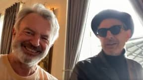 Sam Neill And Jeff Goldblum Jam Together While Filming New Jurassic Park Film