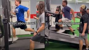 People Can't Work Out If Guy Is Running Forwards Or Backwards On Treadmill