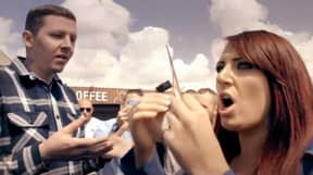 Professor Green Clashed With Britain First's Jayda Fransen At Far-Right Rally