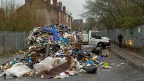 Fly-Tippers Leave 16ft Mountain Of Rubbish On Residential Street