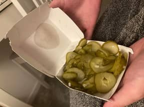 Man Left Hungry After McDonald's Give Him Box Of Gherkins Instead Of Nuggets