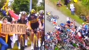Police Searching For Tour De France Spectator Whose Placard Caused Huge Crash