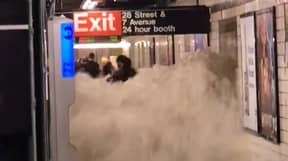 Shocking Footage Shows Water Cascading Through New York Subway Amid Hurricane Ida