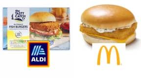 Shoppers Think Aldi's 75p Fish Burgers Taste Just Like McDonald's Fillet-O-Fish