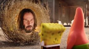 Keanu Reeves Is A Tumbleweed In New SpongeBob Movie Trailer