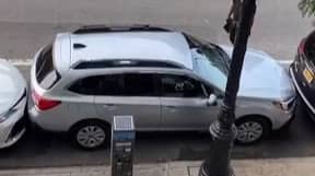 Incredibly Skilled Driver Pulls Out Of The Tightest Parking Spot