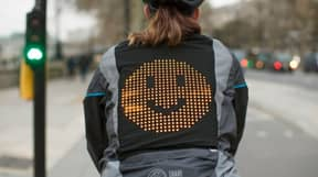 New Emoji Jacket Lets Cyclists Share Their Mood With Drivers