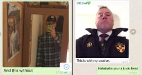 Dad Mugs Son Off In Family WhatsApp Group Chat
