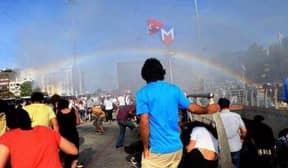 Police In Turkey Blast A Pride Parade With Water, Accidentally Create Rainbow