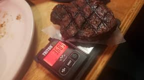 Customer Gets Out Own Scales To Weigh 'Really Small' 6oz Steak At Restaurant