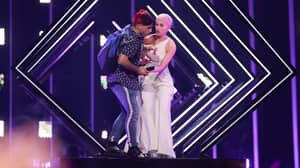 The Moment An Angry Stage Invader Ruined England's Eurovision Performance