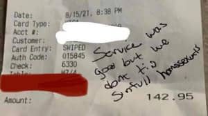 Waiter Given £3,300 In Tips By Strangers After Homophobic Note Left On Receipt