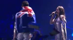 Serial Prankster Got His Arse Out On Last Night's 'Eurovision'