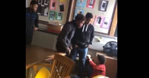 Teenager Gets Knocked The Hell Out After Hitting His Teacher