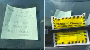 Skint Driver's Desperate Post-It Note To Avoid Parking Ticket