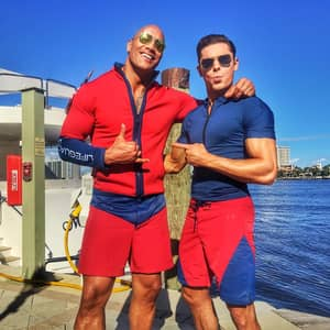 The Rock Proves He's The People's Champ By Posting Snaps From The Set Of 'Baywatch'