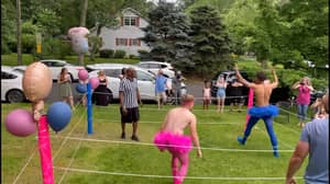 Couple Stages Incredible WWE-Style Wrestling Gender Reveal