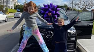 Woman Buys Nine-Year-Old Daughter And Seven-Year-Old Son Brand New Mercedes