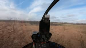 Man Handles Helicopter Crash In Calmest Way Possible