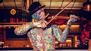 Man Is 98 Percent Covered In Tattoos Including His Eyeballs