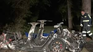 Two People Are Dead After Tesla Car Crashes Into Tree And Bursts Into Flames