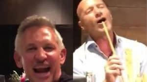 Shearer, Lineker, And Ferdinand Filmed Singing 'Three Lions' After A Few Drinks