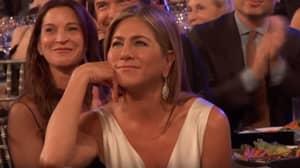Jennifer Aniston Reacts To Brad Pitt Taking Savage Dig At Angelina Jolie During SAG Awards Speech