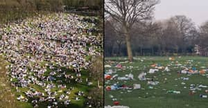 Huge Clean Up Underway After Thousands Leave Litter All Over Park On Hottest March Day In 50 Years