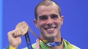 Olympian Bruno Fratus Unintentionally Recreates Biting Medal Meme After Finishing Third