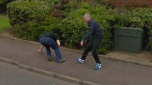 Google Maps Captures Fight Between Two Men On Street In Scotland